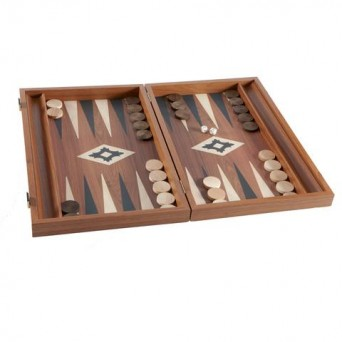 Нарды  Manopoulos Walnut Backgammon из Греции.